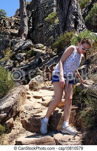 Woman hiking On Lions Head - csp10810579