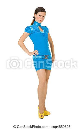 woman in a blue dress - csp4650625