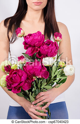 Woman in a bouquet - csp67040423