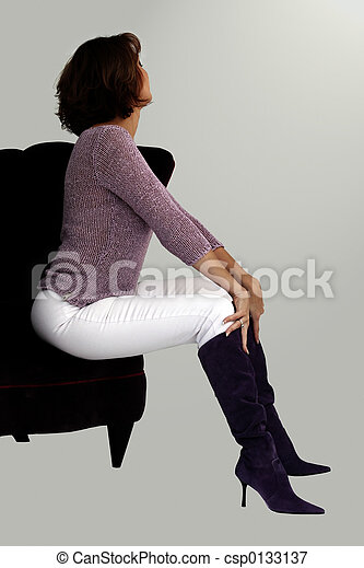 Woman in a chair - csp0133137