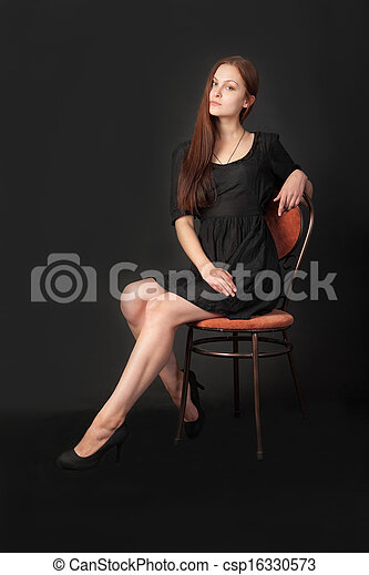 woman in a chair - csp16330573