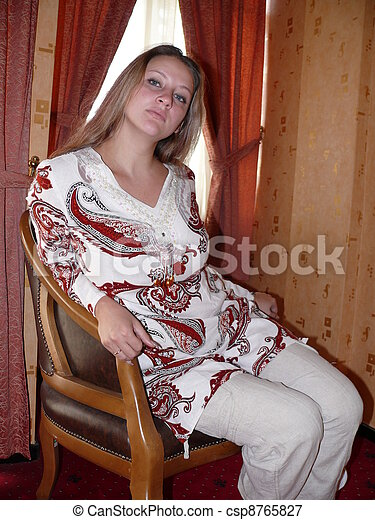 woman in a chair - csp8765827