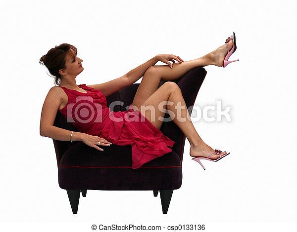 Woman in a chair - csp0133136