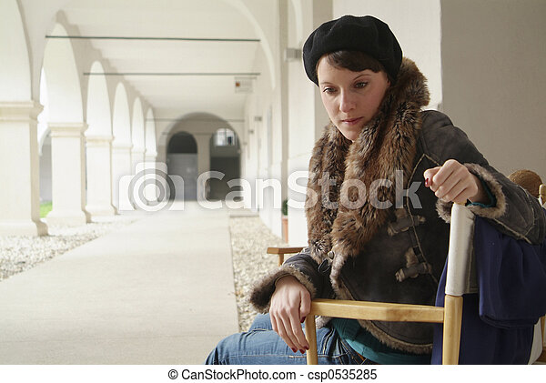 woman in a chair - csp0535285