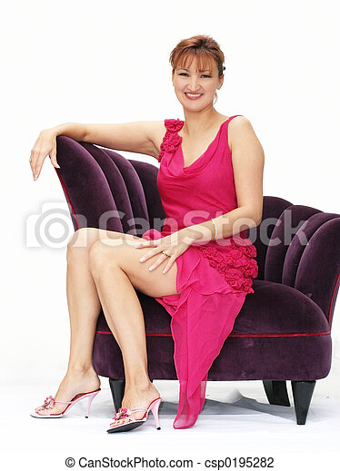 Woman in a chair - csp0195282