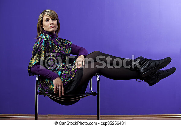 woman in a chair - csp35256431