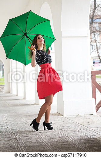 woman in a dress - csp57117910