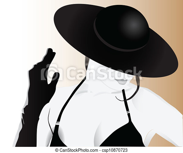 Woman in a Hat - csp10870723
