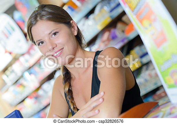 woman in a shop - csp32826576