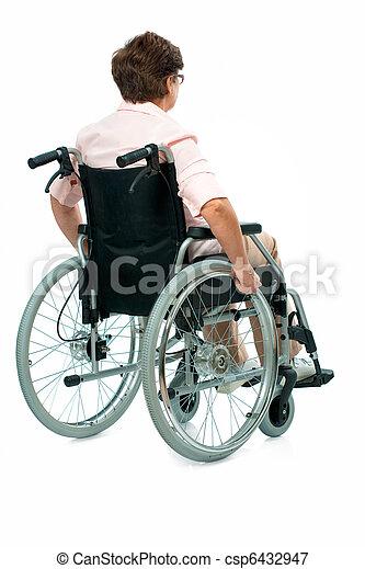 woman in a wheelchair - csp6432947