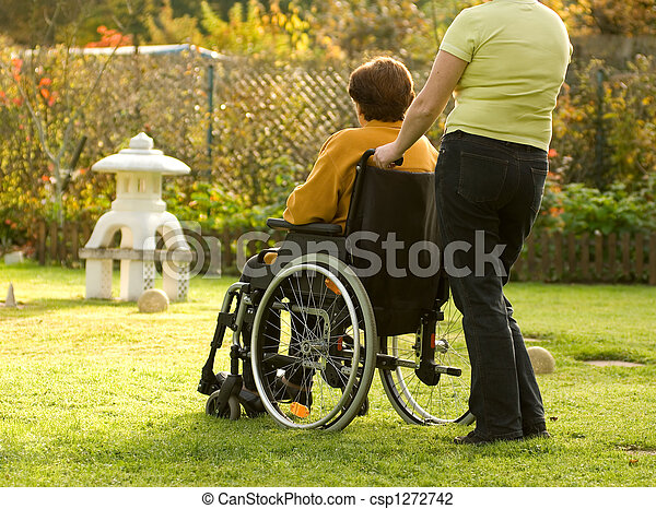 woman in a wheelchair - csp1272742