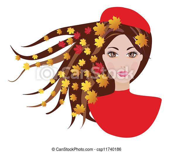 woman in autumn - csp11740186