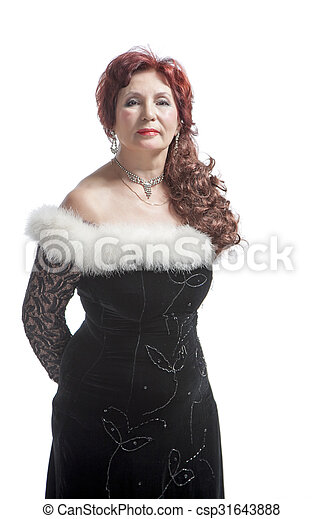 woman in black dress - csp31643888