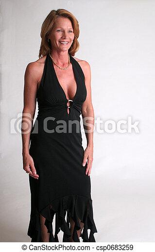 woman in black - csp0683259