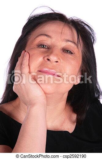 Woman in black - csp2592190