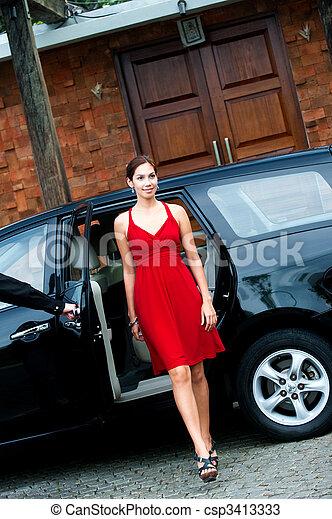 Woman In Car - csp3413333