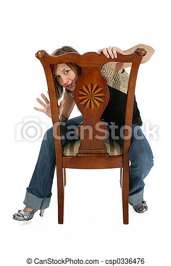 Woman in Chair - csp0336476