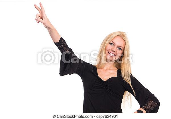 woman in dress - csp7624901