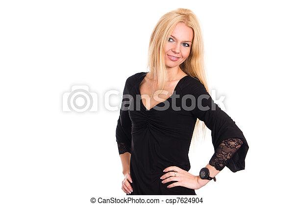 woman in dress - csp7624904