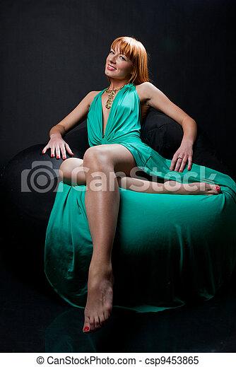 Woman in evening dress - csp9453865
