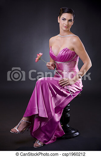 Woman in evening dress - csp1960212
