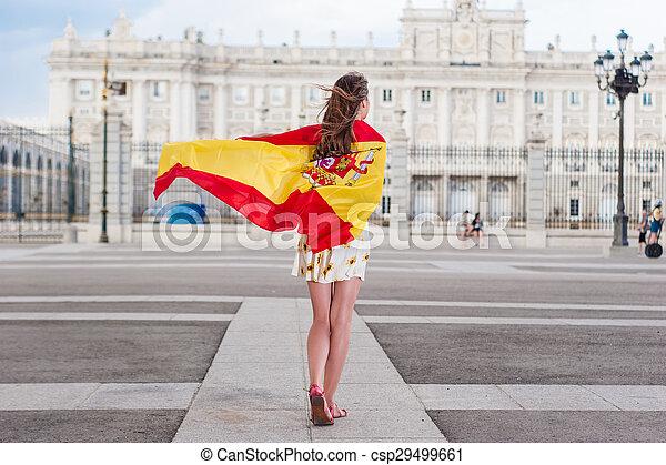 Woman in front of Palacio - csp29499661