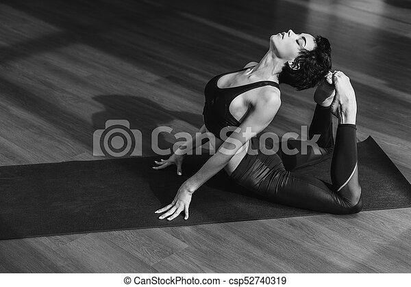Woman In King Cobra Pose