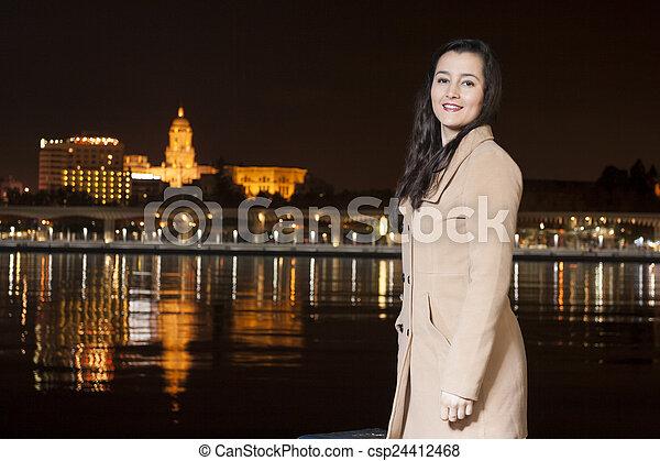 Woman in Malaga - csp24412468
