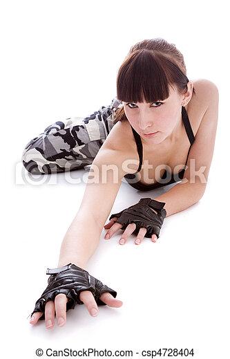 woman in military uniform - csp4728404