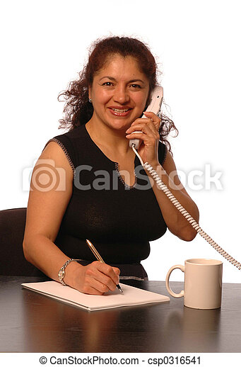 woman in office - csp0316541