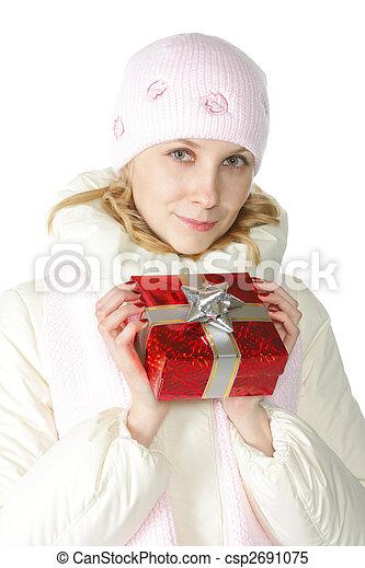 Woman in pink cap - csp2691075