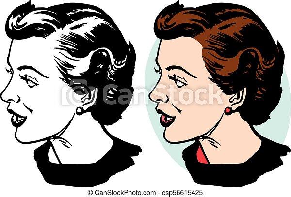 Woman in Profile - csp56615425