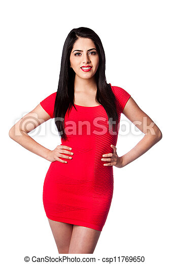 Woman in red - csp11769650