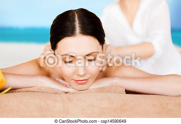 woman in spa - csp14590649