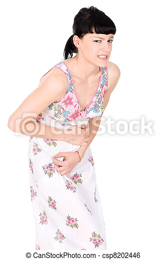 Woman in terrible pain - csp8202446