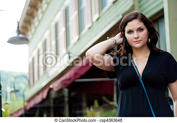 Woman In the City - csp4363648