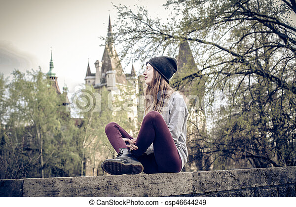 Woman in the city - csp46644249
