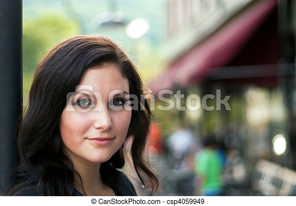Woman In the City - csp4059949