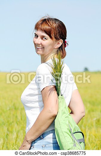 woman in the field - csp38685775