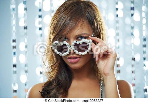 Woman in the nightclub - csp12053227