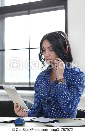 Woman in the office - csp31767972