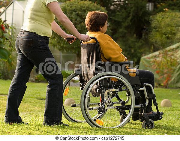woman in wheelchair - csp1272745