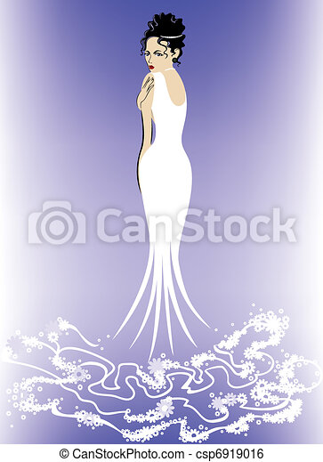 Woman in White - csp6919016