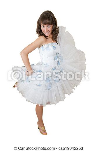woman in white dress - csp19042253