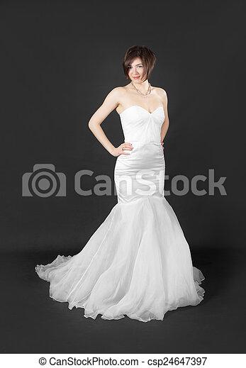woman in white dress - csp24647397