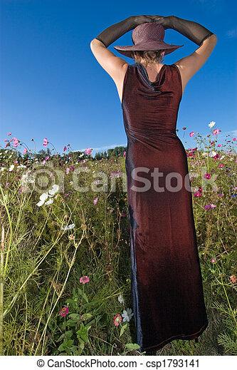 woman in wild - csp1793141