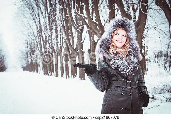 Woman in winter - csp21667078