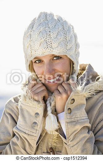 Woman in winter. - csp1512394