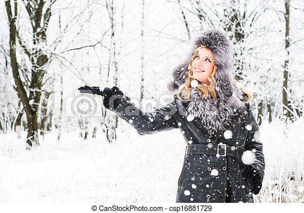 Woman in winter - csp16881729