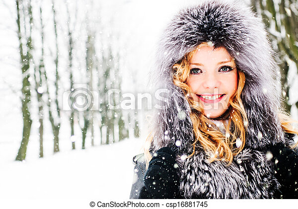 Woman in winter - csp16881745